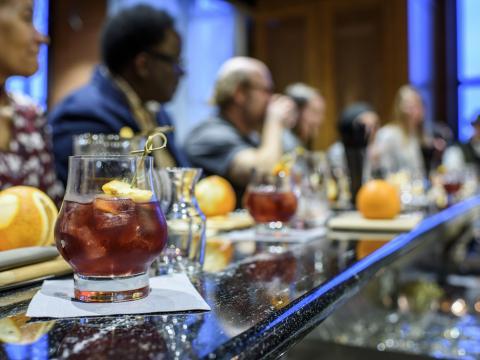 ケンタッキー州ルイビルで開催されるバーボンのテイスティングイベント